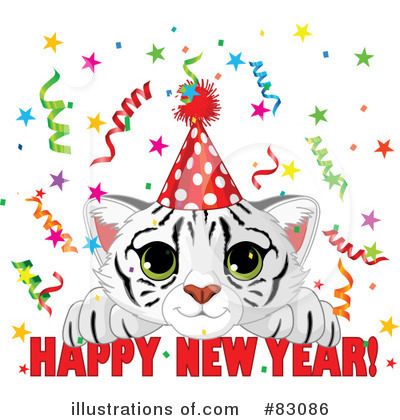 Royalty-Free (RF) New Year Clipart Illustration by Pushkin - Stock Sample #83086