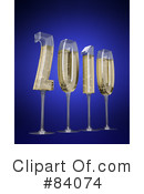 Royalty-Free (RF) New Year Clipart Illustration #84074