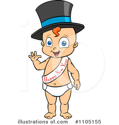 New Year Baby Clipart #1105155 by Cartoon Solutions