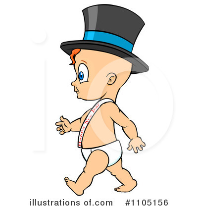 New Year Baby Clipart #1105156 by Cartoon Solutions