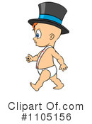 New Years Baby Clipart #1105156 by Cartoon Solutions