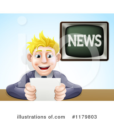 Reporter Clipart #1179803 by AtStockIllustration