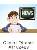 Royalty-Free (RF) news anchor Clipart Illustration #1182429