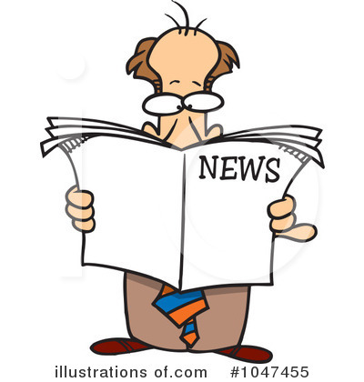 Newspaper Clipart #1047455 by toonaday