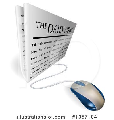 Royalty-Free (RF) News Clipart Illustration by AtStockIllustration - Stock Sample #1057104
