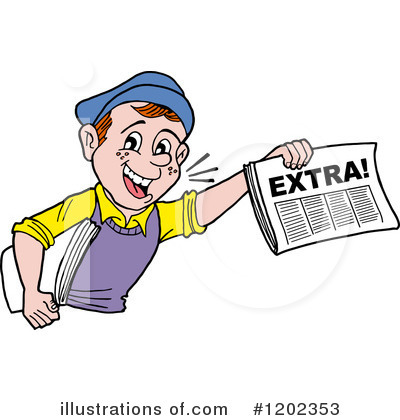 Newspaper Clipart #1202353 by LaffToon