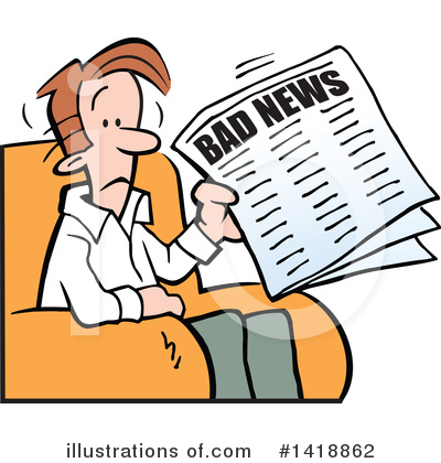 Royalty-Free (RF) News Clipart Illustration by Johnny Sajem - Stock Sample #1418862