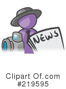 Royalty-Free (RF) News Clipart Illustration #219595