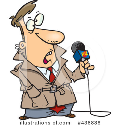 Reporter Clipart #438836 by toonaday