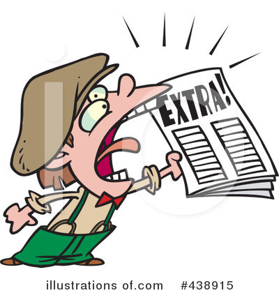 Newspaper Clipart #438915 by toonaday
