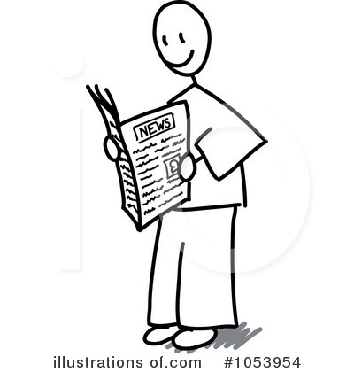 Royalty-Free (RF) Newspaper Clipart Illustration by Frog974 - Stock Sample #1053954