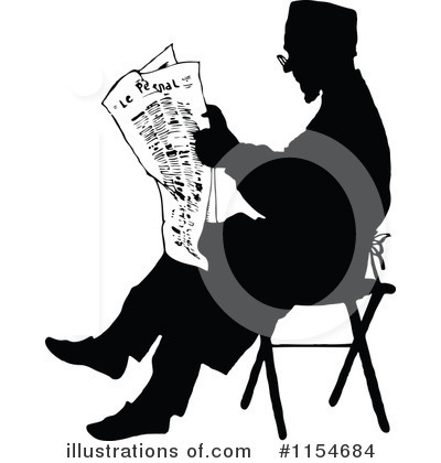Royalty-Free (RF) Newspaper Clipart Illustration by Prawny Vintage - Stock Sample #1154684