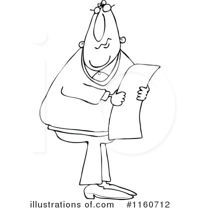 Newspaper Clipart #1160712 by djart