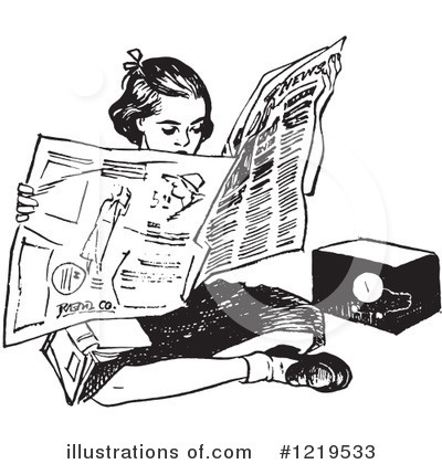 Newspaper Clipart #1219533 by Picsburg