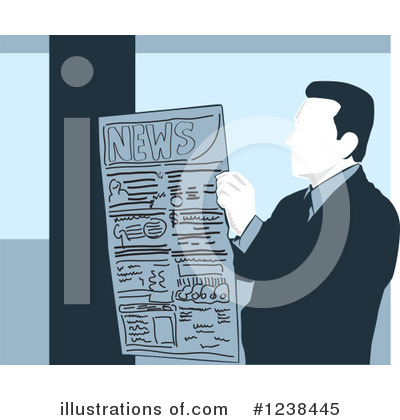 Royalty-Free (RF) Newspaper Clipart Illustration by David Rey - Stock Sample #1238445