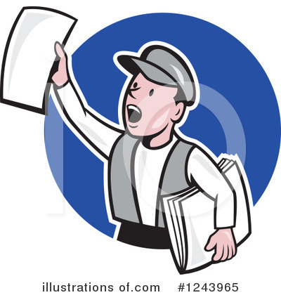 Newspaper Clipart #1243965 by patrimonio