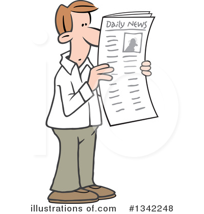 Newspaper Clipart #1342248 by Johnny Sajem