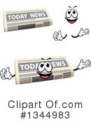 Newspaper Clipart #1344983 by Vector Tradition SM