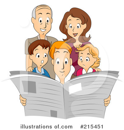 Newspaper Clipart #215451 by BNP Design Studio