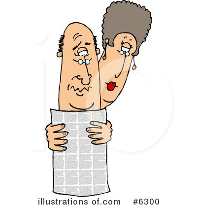 Royalty-Free (RF) Newspaper Clipart Illustration by djart - Stock Sample #6300