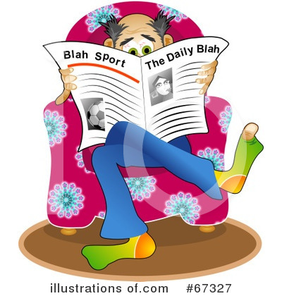 Royalty-Free (RF) Newspaper Clipart Illustration by Prawny - Stock Sample #67327