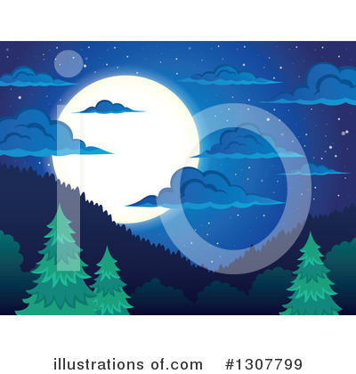 Moon Clipart #1307799 by visekart