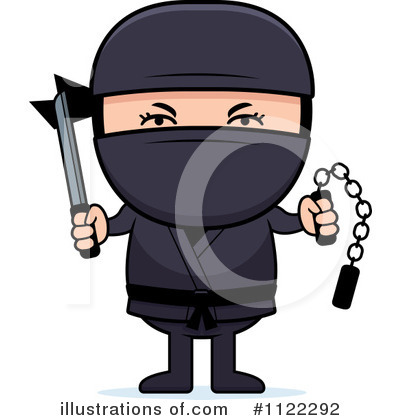 Ninja Clipart #1122292 by Cory Thoman