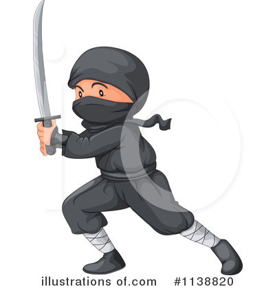Ninja Clipart #1138820 by Graphics RF