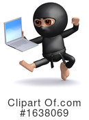 Ninja Clipart #1638069 by Steve Young