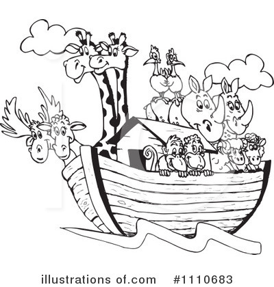 Royalty-Free (RF) Noahs Ark Clipart Illustration by Dennis Holmes Designs - Stock Sample #1110683