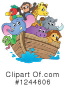 Royalty-Free (RF) Noahs Ark Clipart Illustration #1244606
