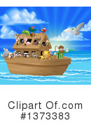 Royalty-Free (RF) Noahs Ark Clipart Illustration #1373383