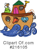 Royalty-Free (RF) Noahs Ark Clipart Illustration #216105