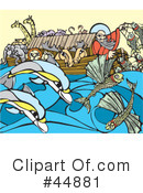 Royalty-Free (RF) Noahs Ark Clipart Illustration #44881