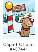 Royalty-Free (RF) North Pole Clipart Illustration #437441