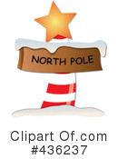 Royalty-Free (RF) North Pole Sign Clipart Illustration #436237