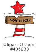 Royalty-Free (RF) North Pole Sign Clipart Illustration #436238
