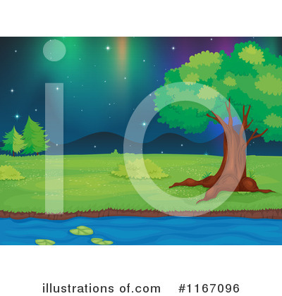 Northern Lights Clipart #1167096 by Graphics RF