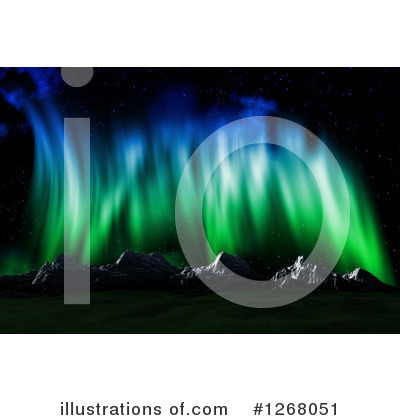 Northern Lights Clipart #1268051 by KJ Pargeter