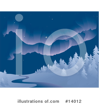 Royalty-Free (RF) Northern Lights Clipart Illustration by Rasmussen Images - Stock Sample #14012