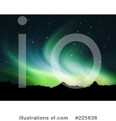 Northern Lights Clipart #225636 by KJ Pargeter