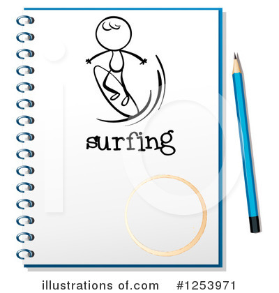 Royalty-Free (RF) Notebook Clipart Illustration by Graphics RF - Stock Sample #1253971