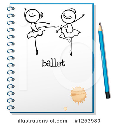 Ballerina Clipart #1253980 by Graphics RF