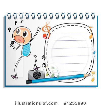 Singing Clipart #1253990 by Graphics RF