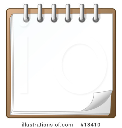 Notepad Clipart #18410 by Leo Blanchette