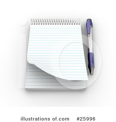 Notepad Clipart #25996 by KJ Pargeter
