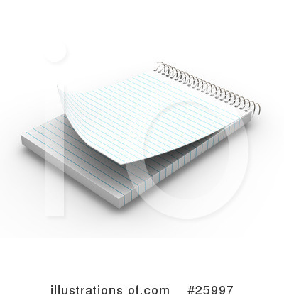 Notepad Clipart #25997 by KJ Pargeter