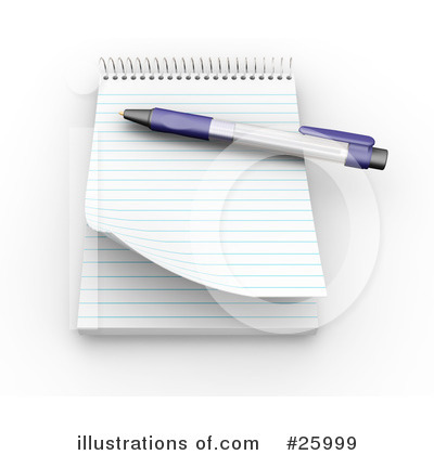 Notepad Clipart #25999 by KJ Pargeter