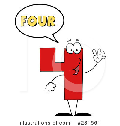 Four Clipart #231561 by Hit Toon