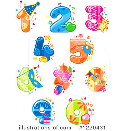 Royalty-Free (RF) Number Clipart Illustration by Vector Tradition SM - Stock Sample #1220431
